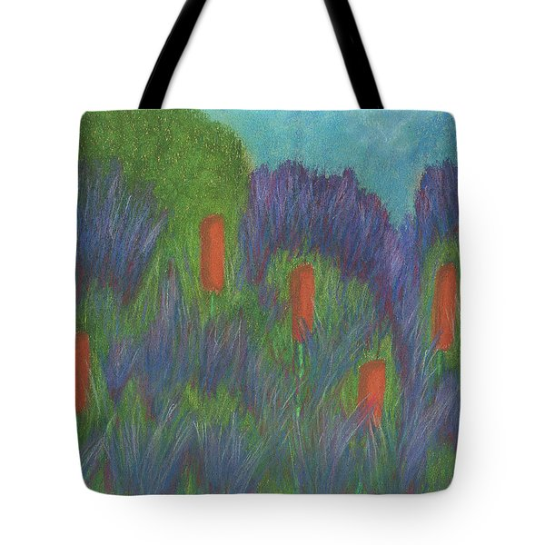 Purple Strife And Cattails Tote Bag