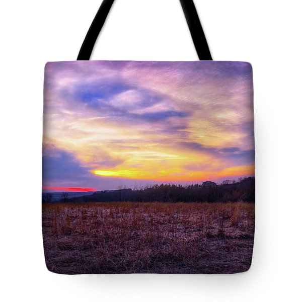 Tote Bag featuring the photograph Purple Sunset At Retzer Nature Center by Jennifer Rondinelli Reilly - Fine Art Photography