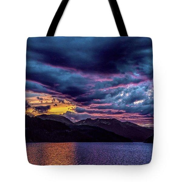 Purple Sunset At Summit Cove Tote Bag