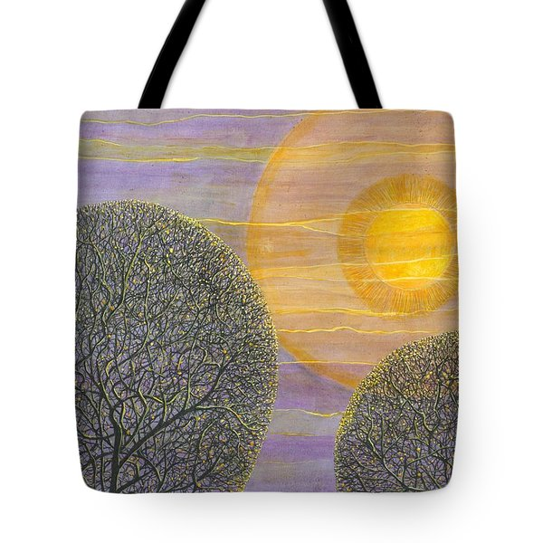 Purple Sunset Tote Bag by Charles Cater
