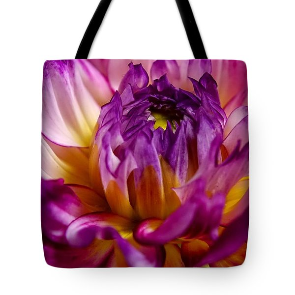 Tote Bag featuring the photograph Purple Sunset Flower 2 by Marianne Dow