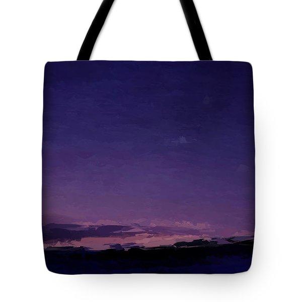 Purple Sunset Over Beach  Tote Bag