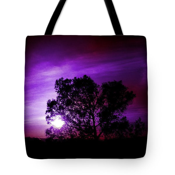 Purple Sunset Tote Bag by Robert Ball
