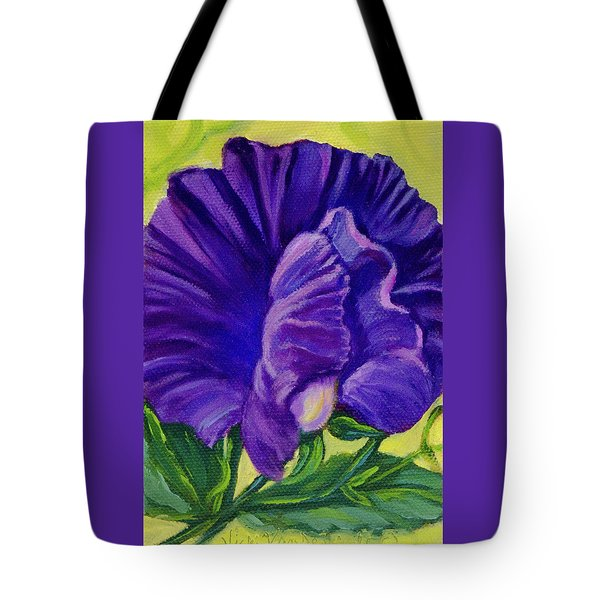 Purple Sweet Pea Tote Bag