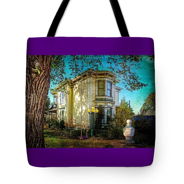 House With The Purple Swing Tote Bag
