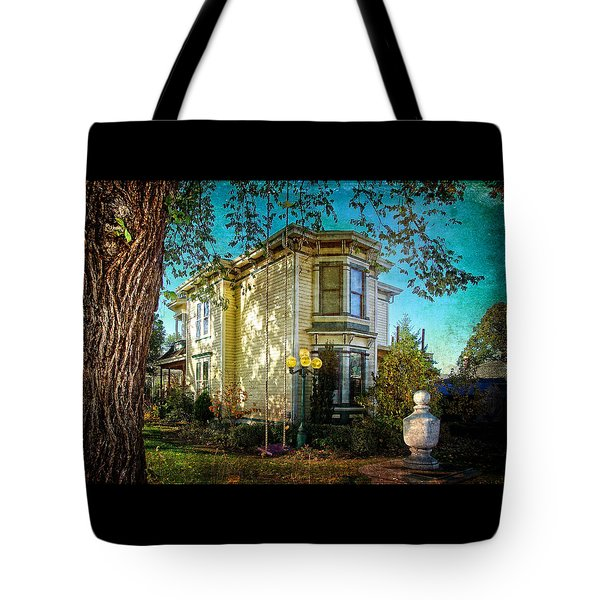 House With The Purple Swing Tote Bag by Thom Zehrfeld