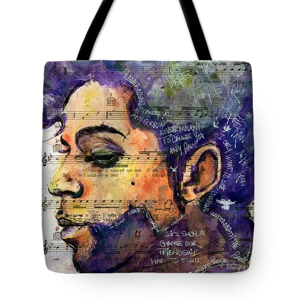 Purple Tears Tote Bag