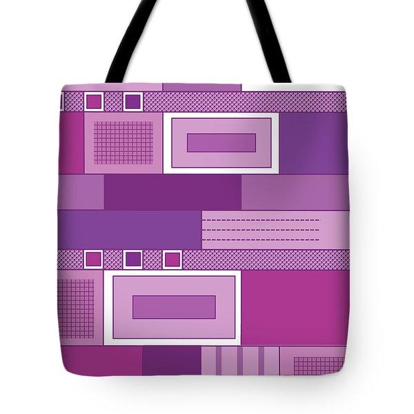 Purple Time Tote Bag