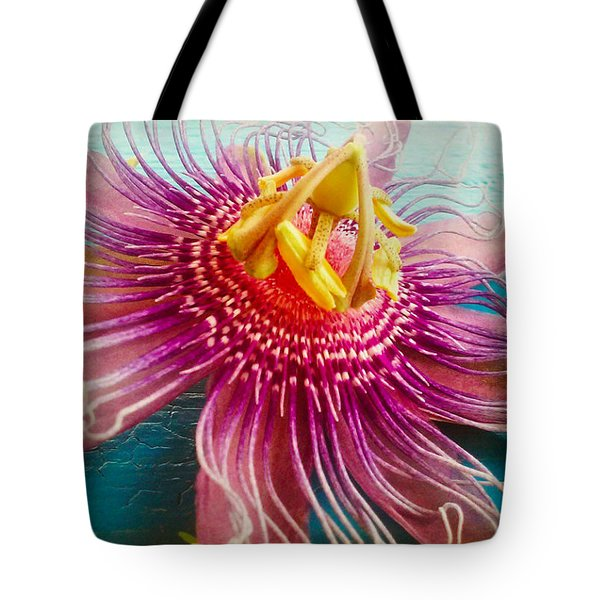 Purple Tropic Tote Bag by Alicia Berent