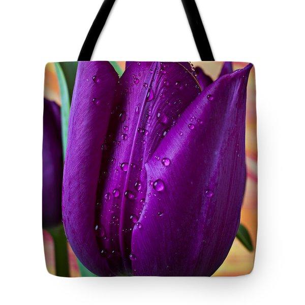 Purple Tulip Tote Bag by Garry Gay