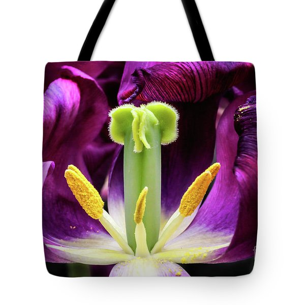 Purple Tulip Macro Tote Bag