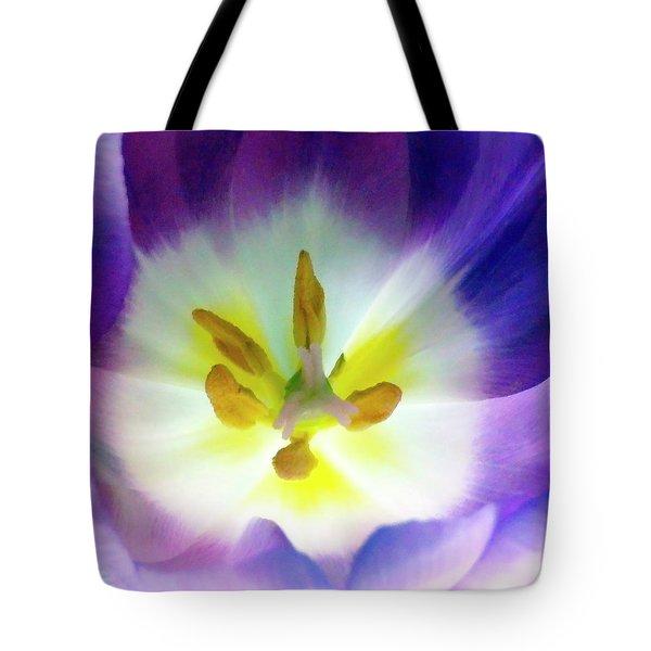 Purple Tulip Macro Tote Bag