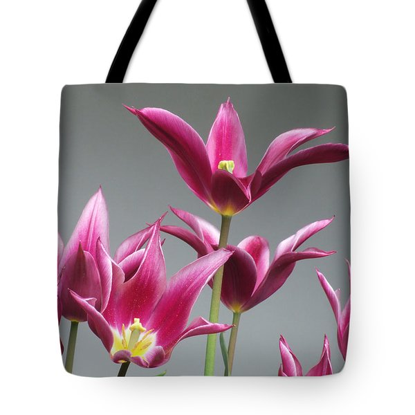 Purple Tulips Tote Bag by Helen Northcott