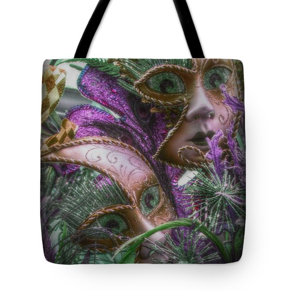 Purple Twins Tote Bag by Amanda Eberly-Kudamik