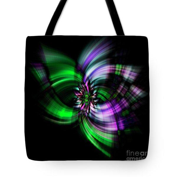 Purple Twirl Tote Bag