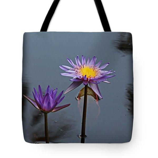 Purple Two-step Tote Bag