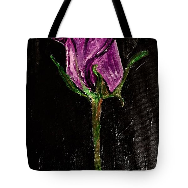 Purple Under The Moon's Glow Tote Bag