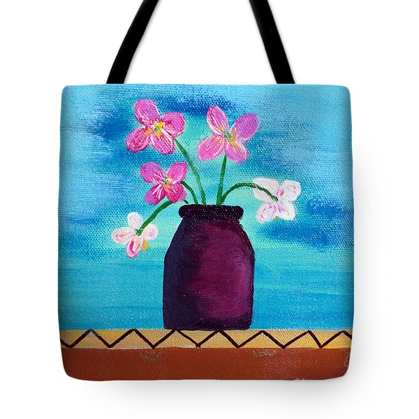 Purple Vase Tote Bag