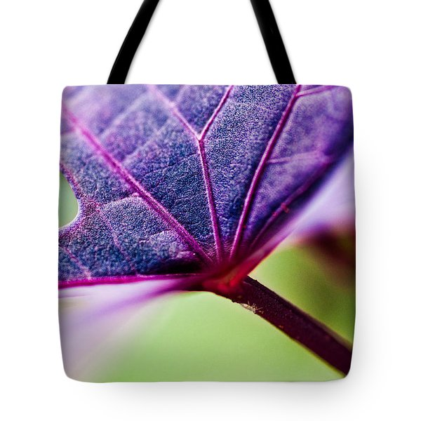 Purple Veins Tote Bag by Christopher Holmes
