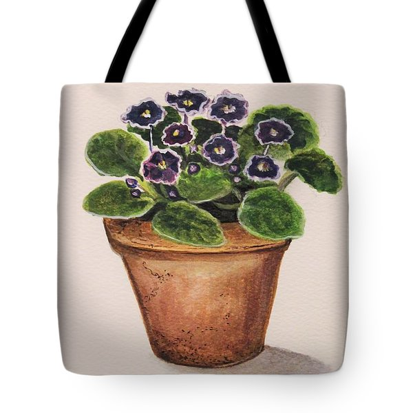 Purple Violets Tote Bag