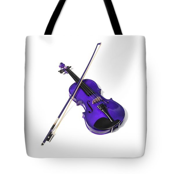 Purple Violin Tote Bag