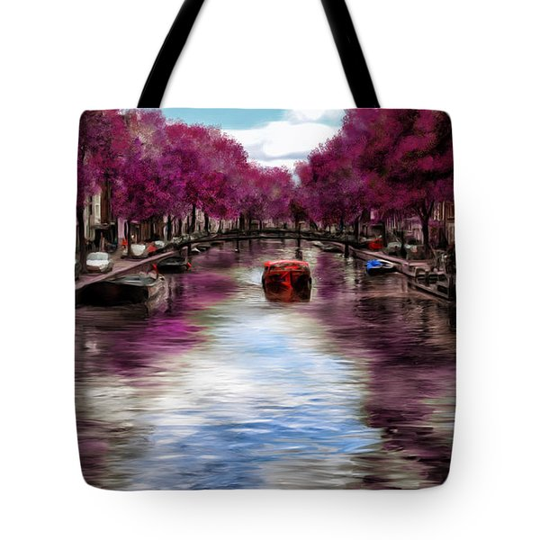 Purple Water Tote Bag