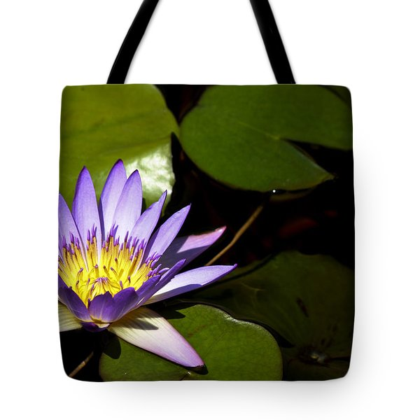 Purple Water Lilly Tote Bag