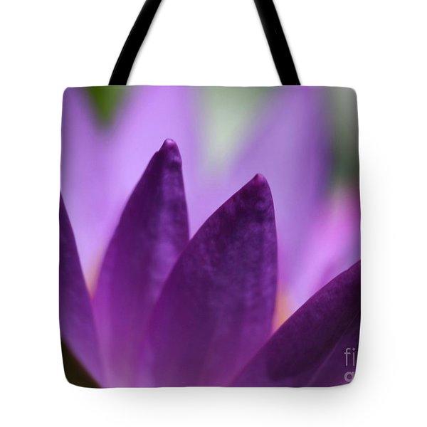 Purple Water Lily Abstract Tote Bag by Sabrina L Ryan
