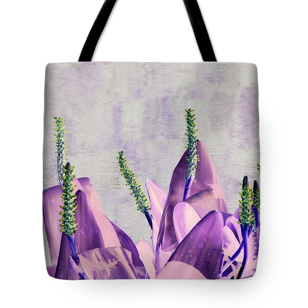 Purple Water Plant Tote Bag