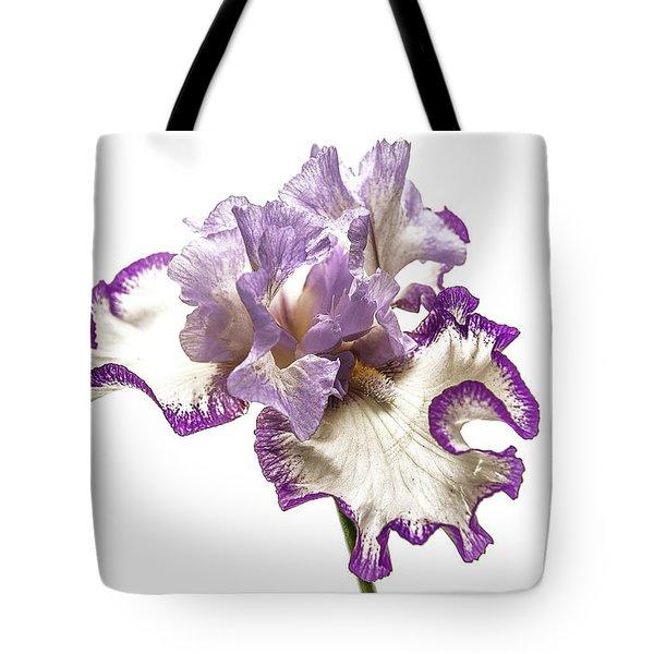 Purple White Iris Tote Bag