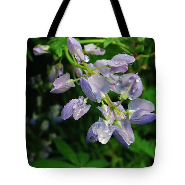 Tote Bag featuring the photograph Purple Wildflower by Tikvah's Hope
