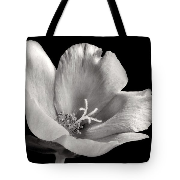 Tote Bag featuring the photograph Purslane In Monochrome by David and Carol Kelly