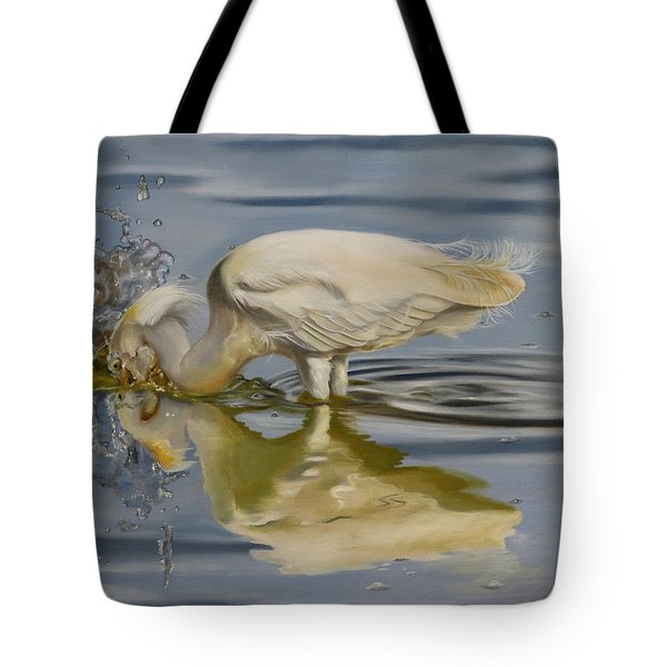 Tote Bag featuring the painting Pursuit by Phyllis Beiser