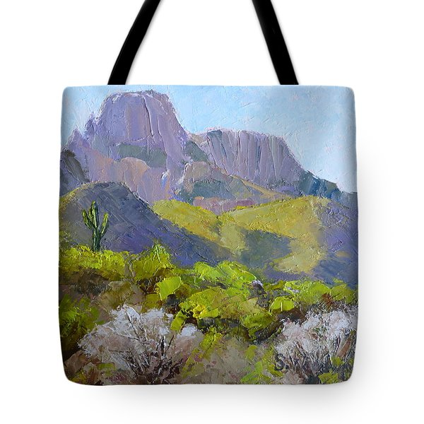 Pusch Ridge II Tote Bag by Susan Woodward