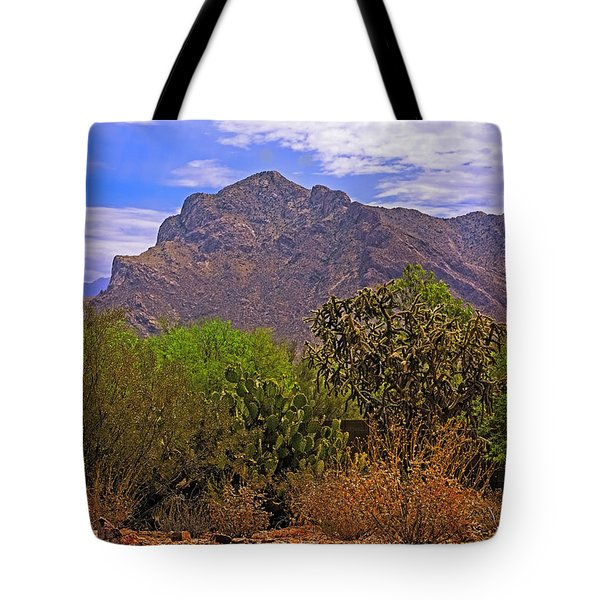 Tote Bag featuring the photograph Pusch Ridge Morning H10 by Mark Myhaver