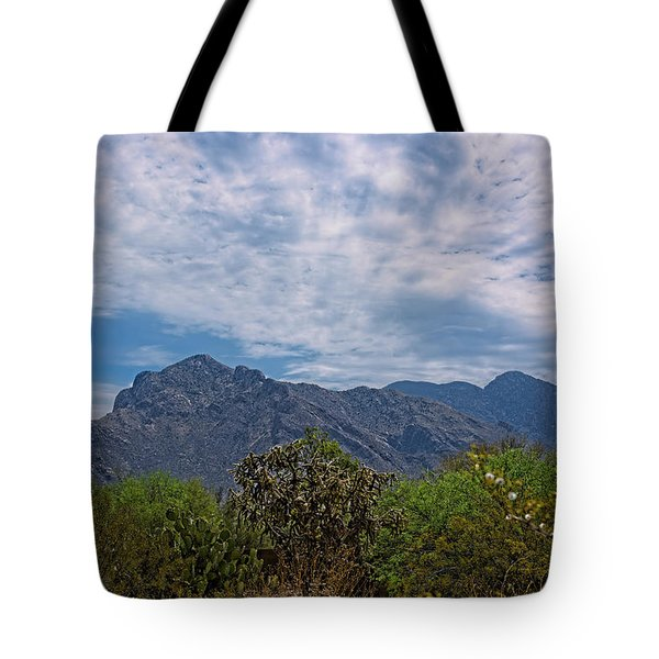 Tote Bag featuring the photograph Pusch Ridge Morning H26 by Mark Myhaver