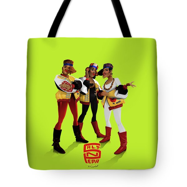 Tote Bag featuring the digital art Push It by Nelson Garcia