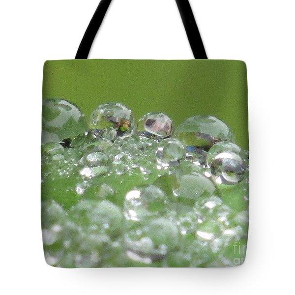 Morning Drops Tote Bag by Kim Tran