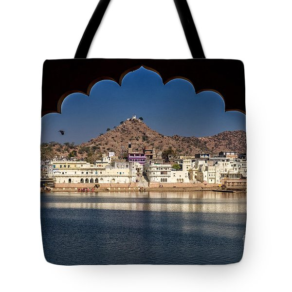 Tote Bag featuring the photograph Pushkar Lake by Yew Kwang