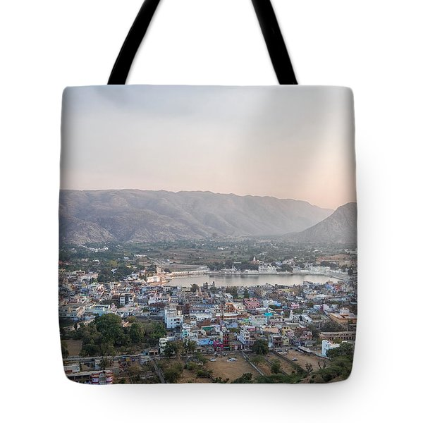 Tote Bag featuring the photograph Pushkar by Yew Kwang