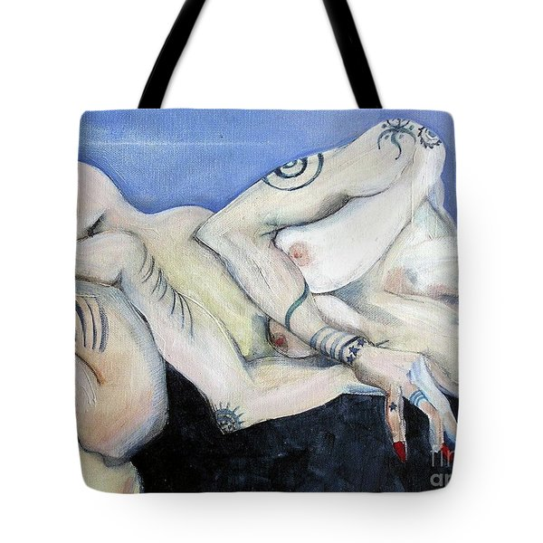 Pussy Venom The Roller Derby Girl - Painting Tote Bag by Carolyn Weltman
