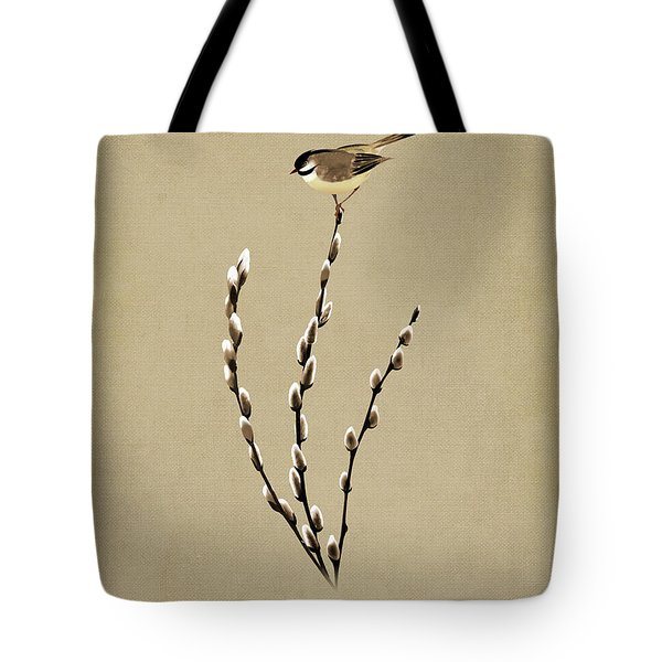 Pussy Willow And Chickadee Tote Bag