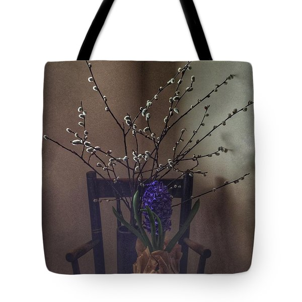 Pussy Willow And Hyacinth Still Life Tote Bag