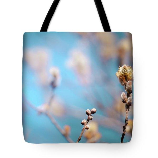 Pussy Willow Tote Bag by Bulik Elena