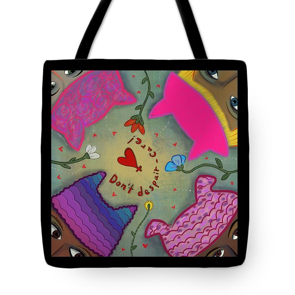Tote Bag featuring the digital art Pussyhat Power #2 by Marti McGinnis