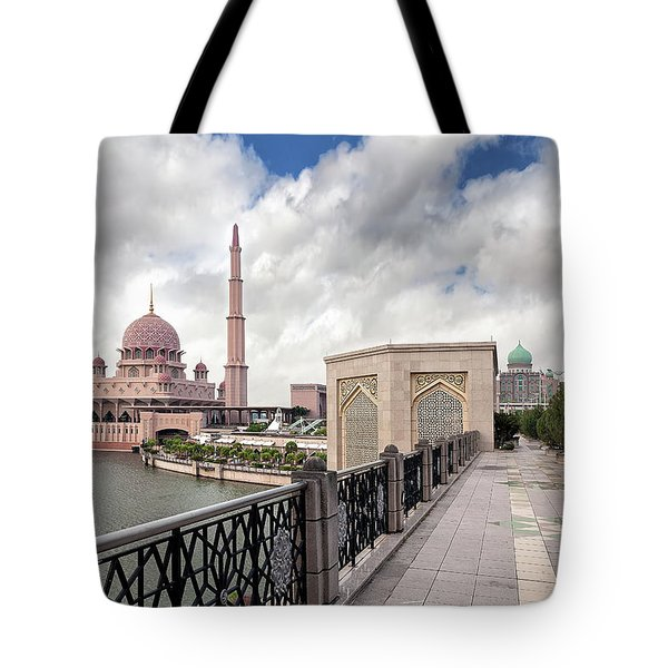 Putra Mosque Tote Bag by David Gn
