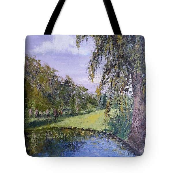 Putting Green Pond Tote Bag