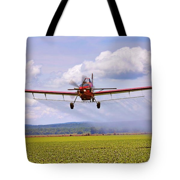 Putting It Down - Ag Pilot - Crop Duster Tote Bag by Jason Politte