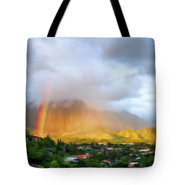 Puu Alii With Rainbow Tote Bag