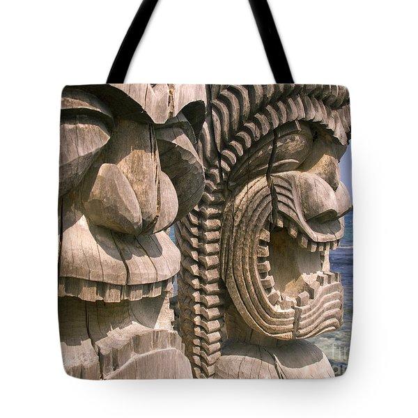 Puuhonua O Honaunau Tote Bag by Ron Dahlquist - Printscapes